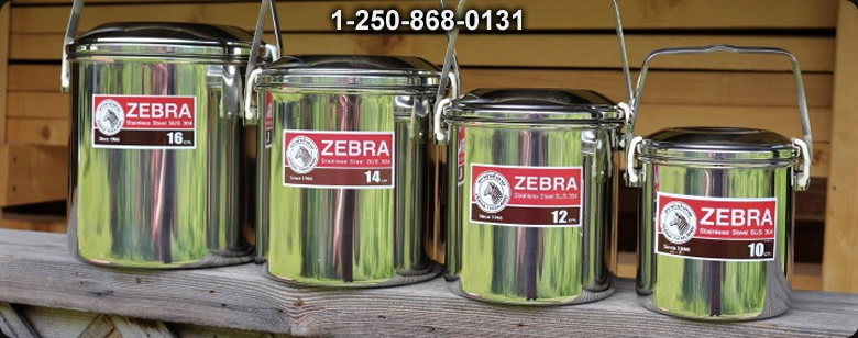Zebra Stainless Steel Box - Bushcraft Canada