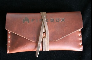 Firebox Stove Top Grain Leather case for 3in NANO Firebox