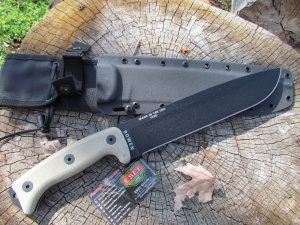 ESEE Knives Junglas Survival knife, Kydex sheath and Cordura backing
