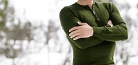 Woolpower Zip Turtleneck 200 Green Photo