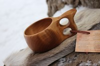 Finnish Lappland Kuksa Double hole Handle