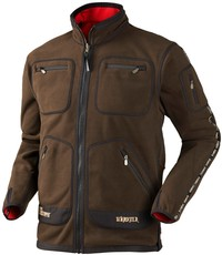 Harkila Kamko Technical Fleece Brown/Red Photo