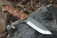 Cosmo Bushcraft Maple Burl S35VN Wide Paw No2