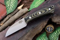 Barkriver Knives A2 TUSK Black and Green Linen