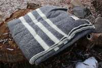 Canadian 100% Virgin Wool Blanket Black Photo